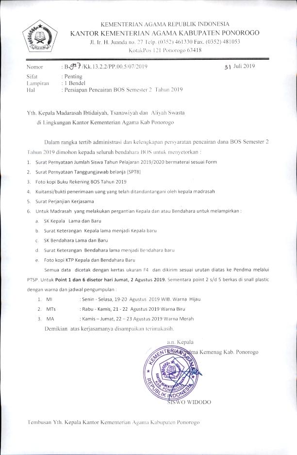 Bos Pendidikan Madrasah